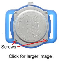 Screw held back watch case